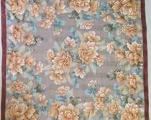 "50% SALE Vintage Mila Schon Silk Scarf Chiffon Shawl Square Wrap 34.25"" X 35"" BM"