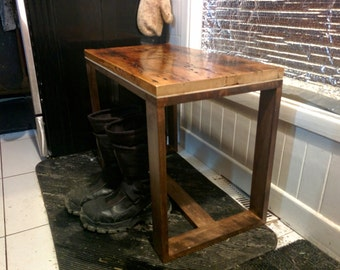 Reclaimed wood Entryway bench