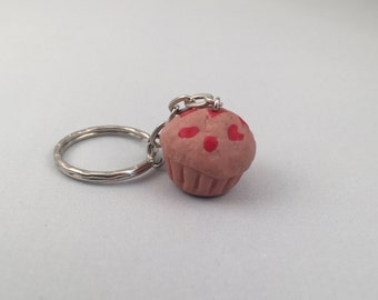 Strawberry Muffin Keyring