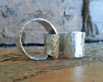 Silver Ring, Handmade Ring, Custom Ring, Silver Jewelry, Hammered Ring
