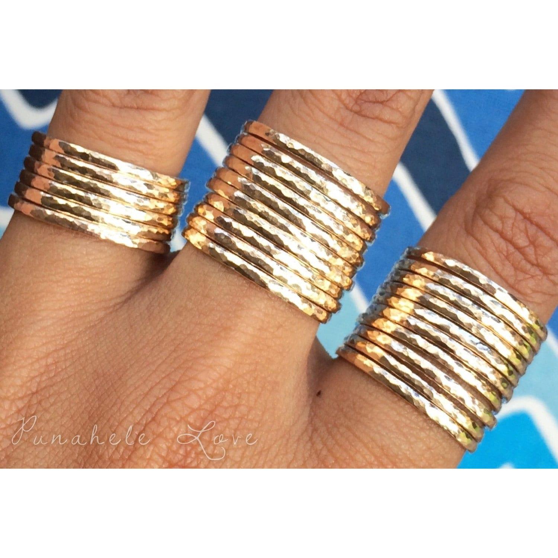 stacking rings stackable rings 14k gold filled or sterling. Black Bedroom Furniture Sets. Home Design Ideas