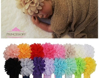 Baby Girl headband - Pick 6 - newborn Headbands - Baby Lace Headband - Baby headband set- infant headband - flower headband HL03