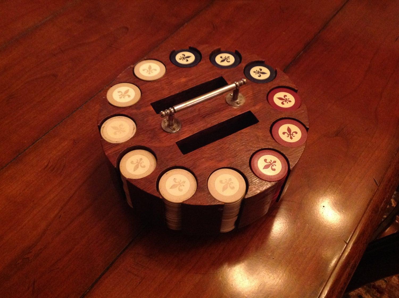 Antique poker chip set