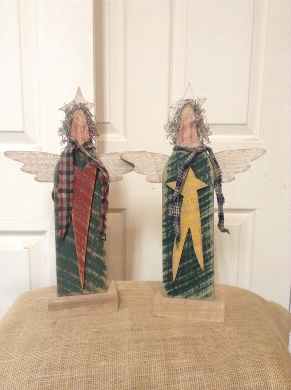 Primitive Angel Wood Angel Primitive Wood Decor By