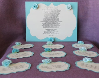 ... candle basket Poem and Tags. Sentimental wedding gift. Shower Present