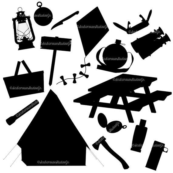 Silhouette Clipart camping silhouettes 300 by ...