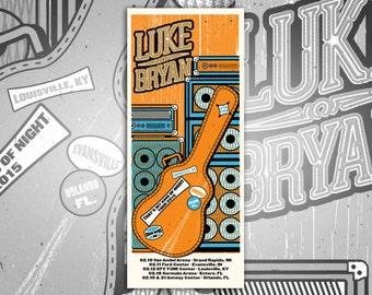 Luke Bryan Print