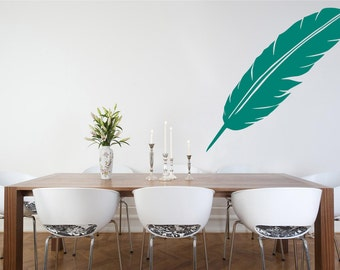 Wall Decal, Feather Wall Sticker, Bedroom Wall Sticker, Wall Art, Living room Wall Decals, Kitchen Decal