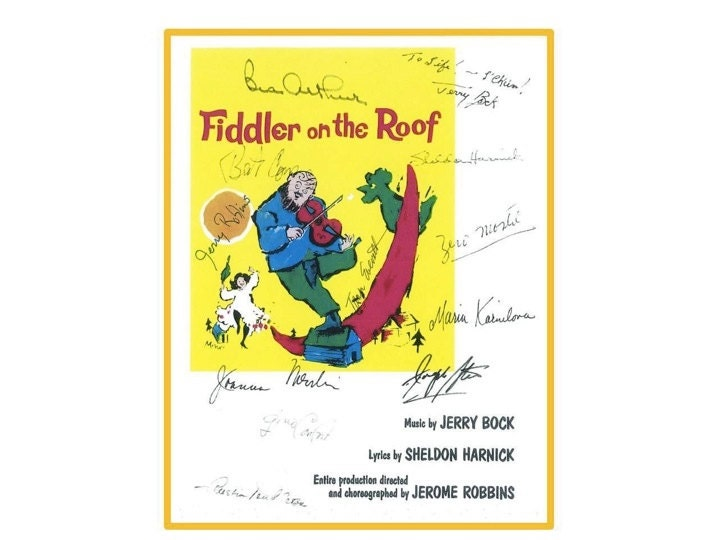 Fiddler On The Roof Movie Script Signed Screenplay