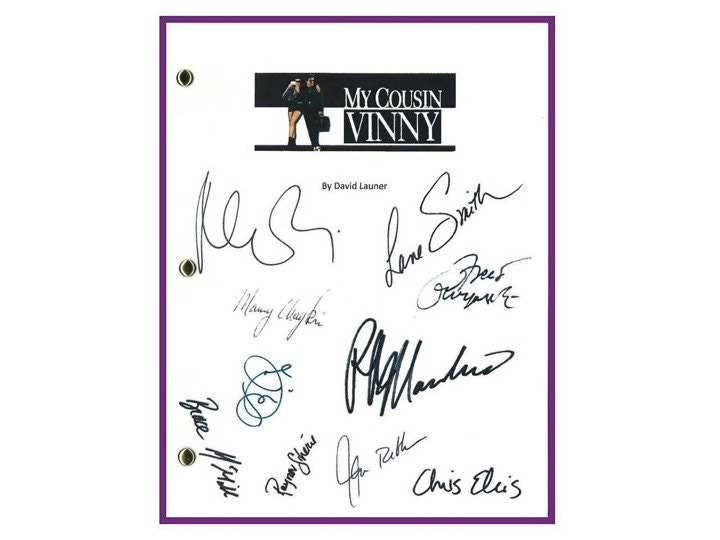 My Cousin Vinny Movie Script Signed Screenplay Autographed