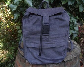 Gray corduroy big backpack