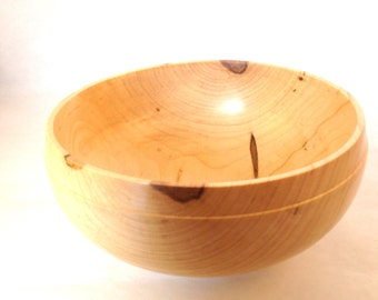 Hand turned reclaimed wood bowl