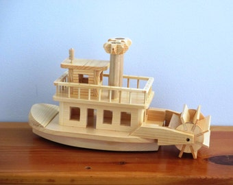 Wooden Paddle Wheel Steam Boat