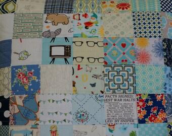 custom quilted pillow, modern patchwork pillow, sofa pillow, accent pillow, decorative pillow, made to order pillow
