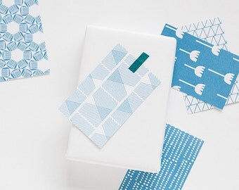 gift tags blue, 10 cards