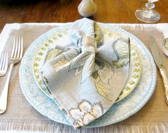 Burlap Placemats - Burlap Table Settings - Rustic Placemats - Rustic Table Settings - Rustic Napery - Set of 6