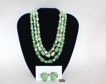 Beautiful West Germany Costume Jewelry Set Free Shipping