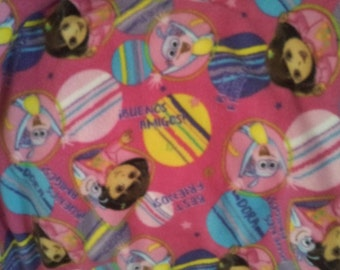 On Sale!!!!!!  Dora Fleece Fabric By The Yard