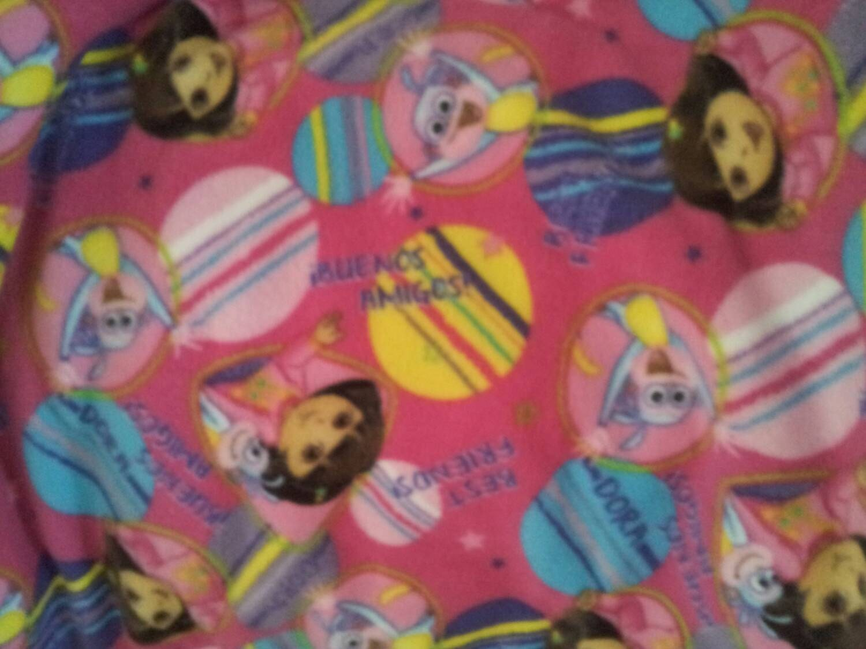 On sale dora fleece fabric by the yard by reneeschoicefabrics for Fabric for sale by the yard