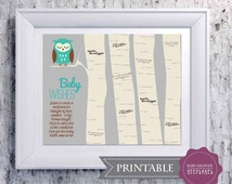 Baby Shower Keepsake Game PRINTABLE Art Print - Woodland Nursery