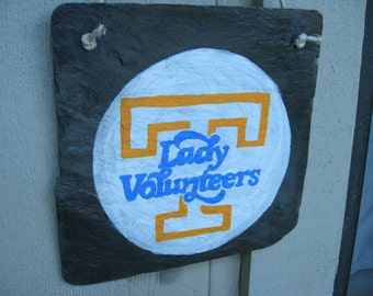 LADY VOLS natural slate hand painted plaque