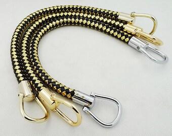 14mm crochet PU leather handles a pair.
