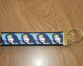Wonder Womanwristlet key fob holder key chain