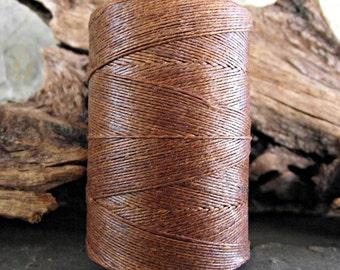 2 Ply Walnut Brown Waxed Irish Linen Thread 10 Yards WIL-21,bookbinding thread,brown linen thread,walnut brown thread,2 ply linen thread
