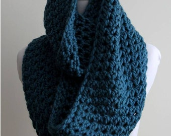 Winter scarf, Chunky knit scarf teal color, Winter scarf, simple chunky scarf, teal knitted scarf, Cozy soft scarf
