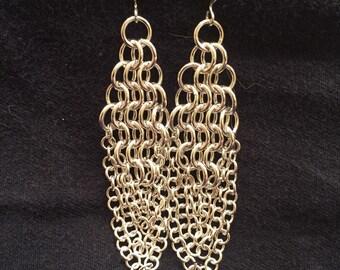 Shiny chandelier earrings