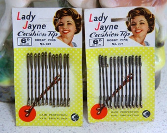 Vintage Lady Jane Bobby Pins (2 Packets)