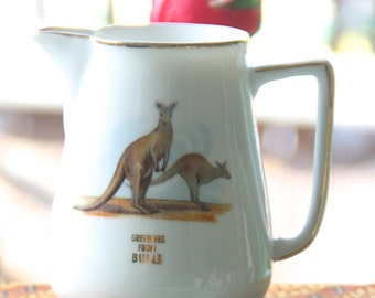Vintage 1960's souvenir Bulli NSW Small China Jug  Kangaroo
