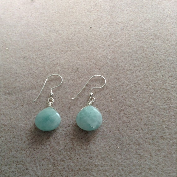 Amazonite Teardrop and Sterling Silver Earrings ESS6151792