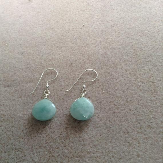 Amazonite Teardrop and Sterling Silver Earrings ESS6151792