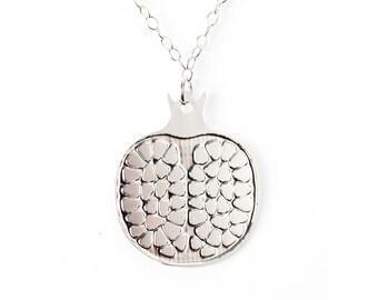Pomegranate necklace, pomegranate, pomegranate pendant, pomegranate jewelry, fruit necklace, pomegranate charm, judaica jewelry