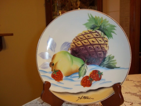 Vintage Hitomi Ucagco Porcelain Plate Hand Painted