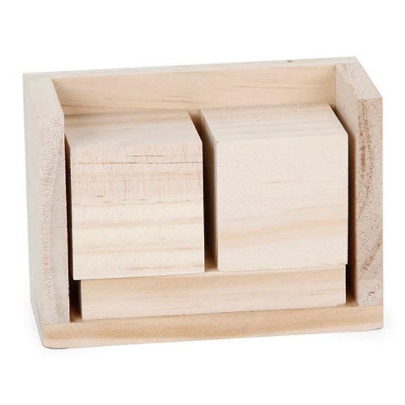 bloc en bois plac e pour faire votre propre calendrier. Black Bedroom Furniture Sets. Home Design Ideas