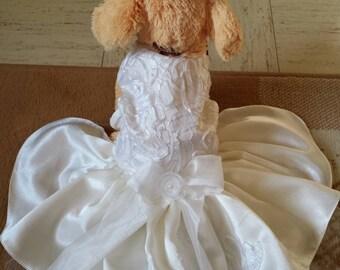 Winter white wedding dress