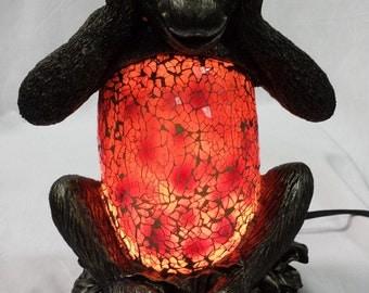 Three Wise Monkeys See No Evil, Hear No Evil, Speak No Evil Glass Lamps TLS1038ABC