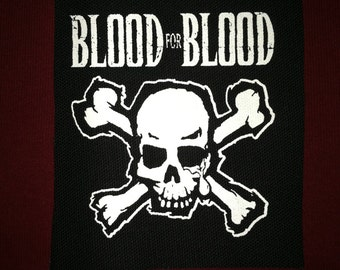 Blood For Blood Cloth Punk Patch