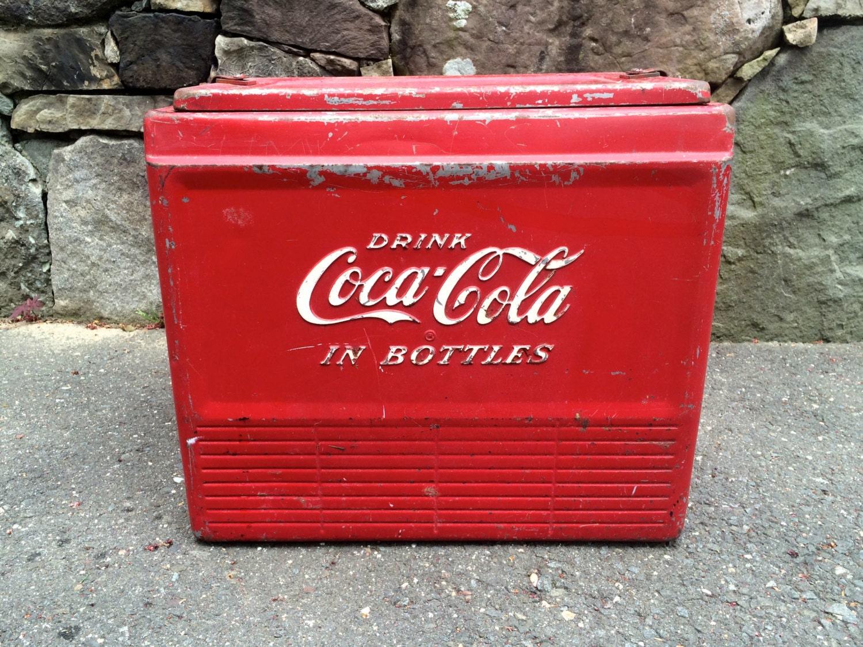 Vintage Coca-Cola Metal Cooler : EBTH  Old Coca Cola Coolers