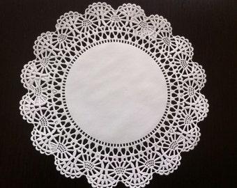 "150 ct. 8"" White Paper Lace Cambridge Doilies Wedding Party Decor Gift Wrap"