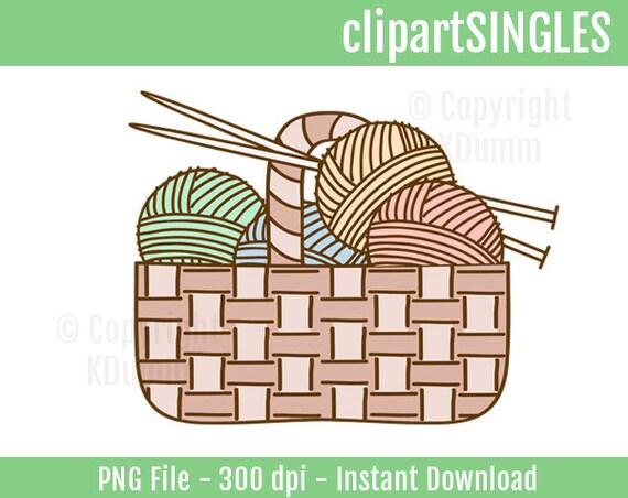 Clipart Knitting Crochet Yarn Basket Commercial by ...