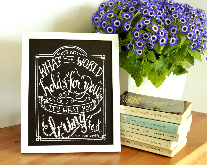 Inspirational Print Anne Of Green Gables Print Graduation