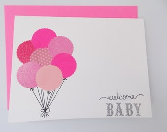 baby shower card congratulations baby card baby girl card card