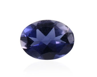 Catalina Iolite Loose Gemstone Oval Cut 1A Quality 8x6mm TGW 0.80 cts.