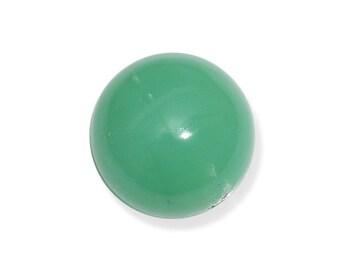 Green Chrysoprase Round Cabochon Loose Gemstone 1A Quality 9mm TGW 2.55 cts.
