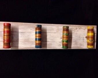 Upcycled Vintage Croquet Mallet Coat Rack