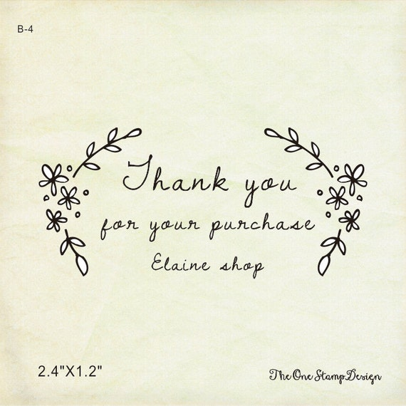 Thank You For Your Purchase Quotes: Custom Rubber Stamp Or Selinking 2.4 X1.2