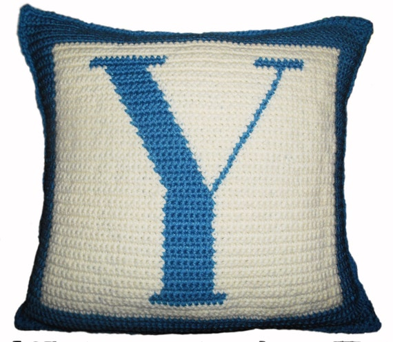Free Crochet Letter Pillow Pattern : Crochet Pattern Letter Y Crochet Pillow